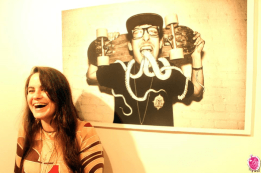 """Kaitlin Parry at the """"Villain People"""" opening."""