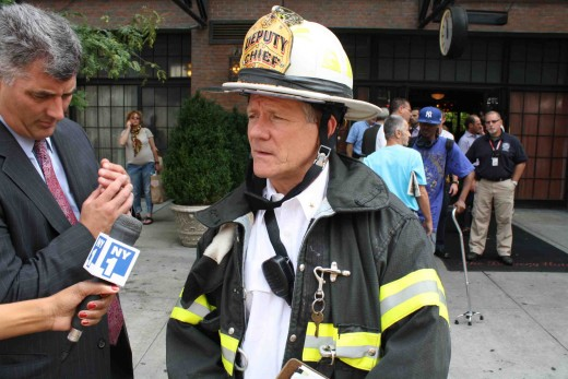 Division One Deputy Chief Jim Hodgens outside Bowery Hotel (Photo: Natalie Rinn)