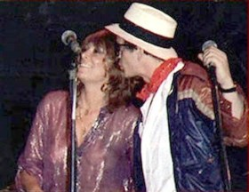 Genya Ravan with Lou Reed at Bottom Line. (Photo: Chuck Pulin)
