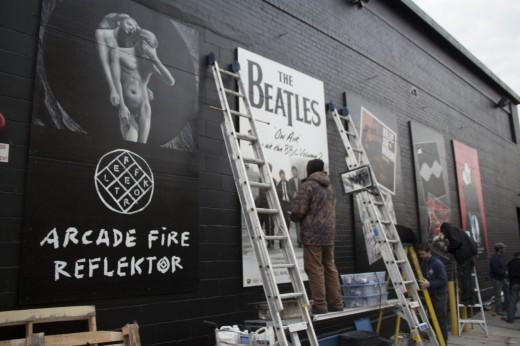 Storefront murals.