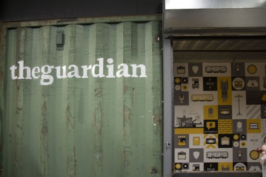 The Guardian booth.
