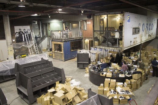 The warehouse space.