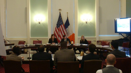 Stephen Levin at a City Council hearing last week. (Christopher DiScipio)