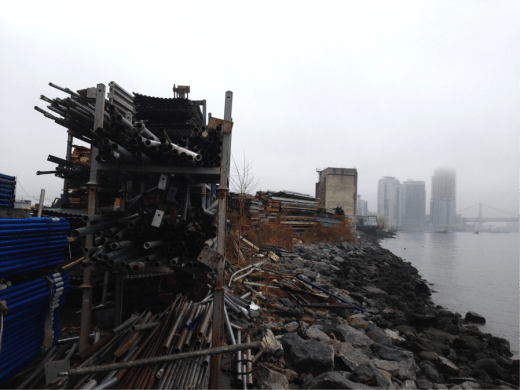 The waterfront bordering the Greenpoint Terminal today is an industrial wasteland. (Photo: Elizabeth Flock)