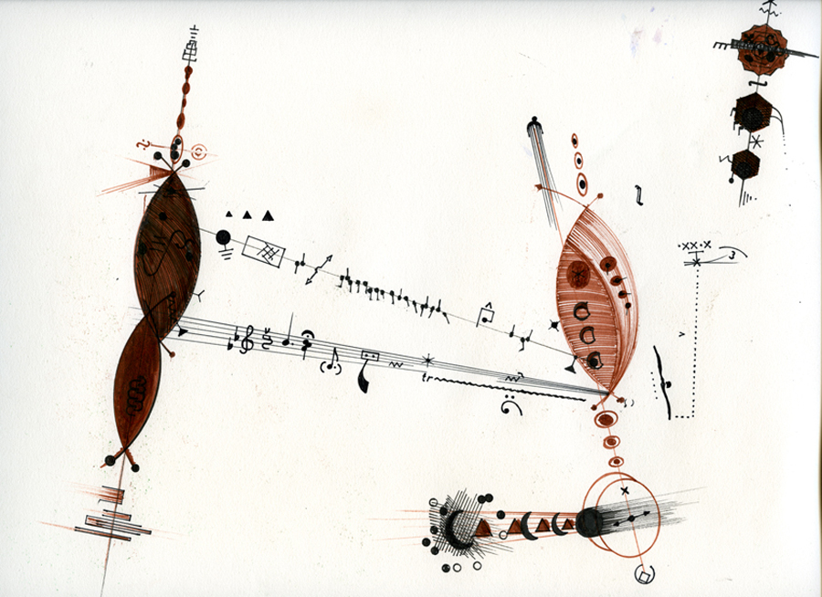 Billy Martin's visual score (image courtesy of The Drawing Center)