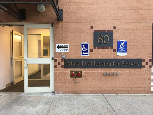 A senior center sits directly across the streets from the NuHart building (Photo: Nicole Disser)