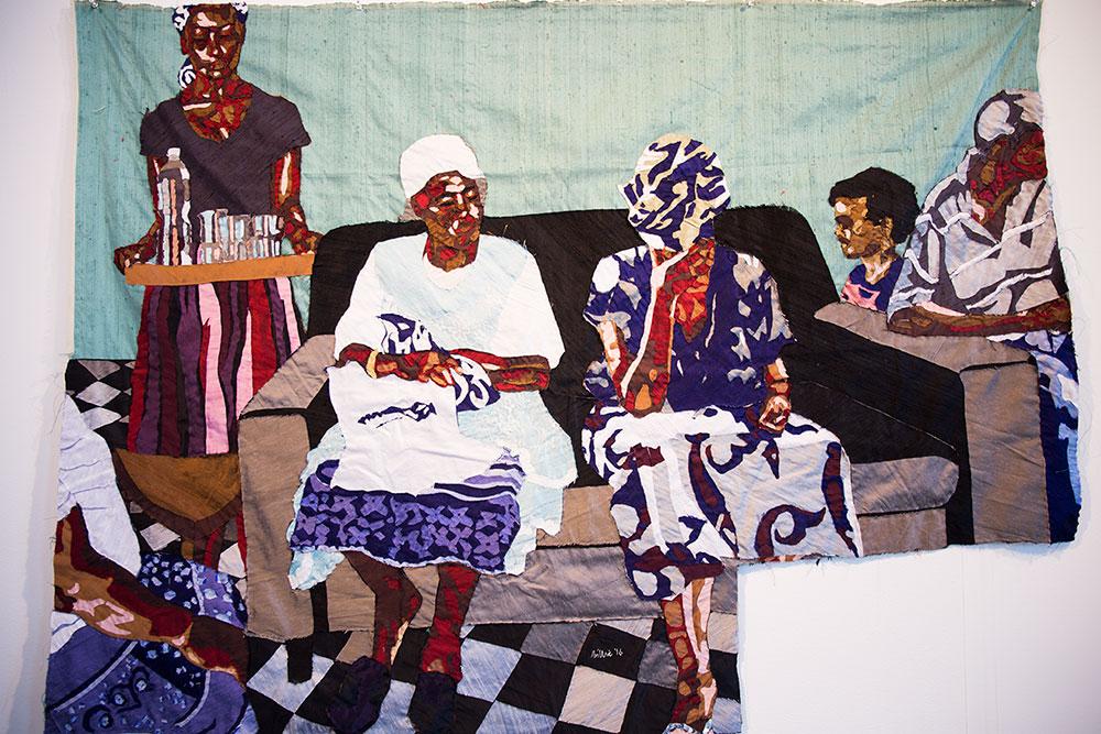 Silk tapestry by Bill Zangewa (Photo: Nicole Disser)