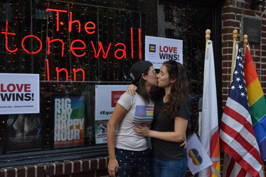 Last June, Stonewall was the site of a celebration for the Supreme Court's ruling in favor of nationwide gay marriage. (Photo: Talya Galasko)