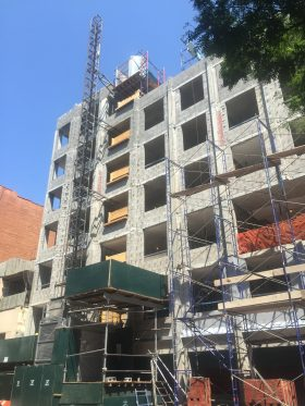 50 Clinton, luxury apartments currently under construction  (Photo by Kavitha Surana)