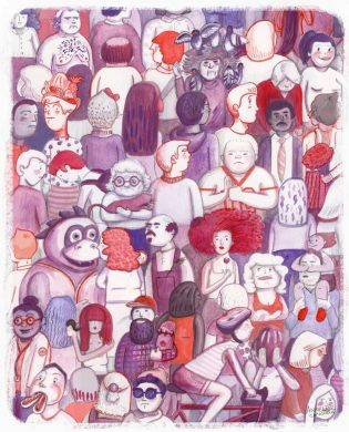 (illustration by Annelise Capossela, courtesy of David Ostow)