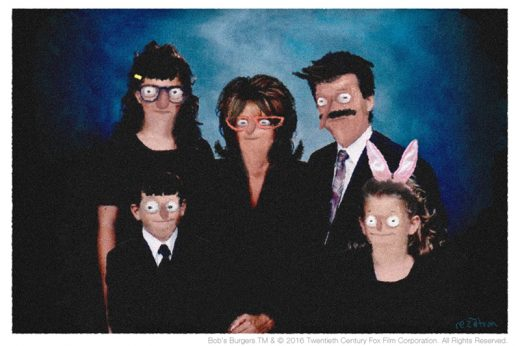 "Rezatron, ""The Real Belcher Family."" (image courtesy of Spoke Art)"