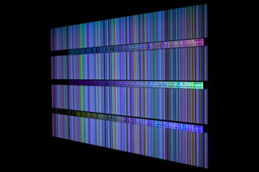 "Matthew Biederman, ""Iterating Color Field, Sorted and Measured Three Times"" (image courtesy of The Current Museum)"