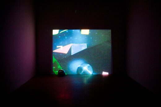 Trisha Baga (b. 1985) Flatlands, 2010 Video, color, sound; 18 min., with disco ball and 3D glasses Collection of the artist; courtesy Greene Naftali Gallery, New York Installation view, Greene Naftali Gallery, New York, 2011 © Trisha Baga and Greene Naftali Gallery, New York