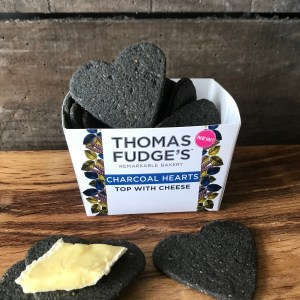 Thomas Fudges Charcoal Hearts 100g