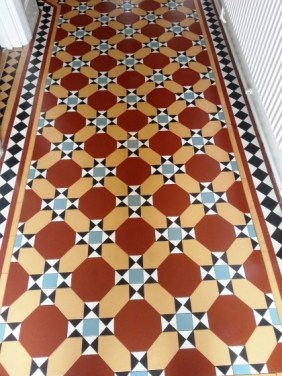 Victorian Tile After Cleaning and sealing Leighton Buzzard