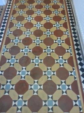 Victorian Tile Before Cleaning Leighton Buzzard