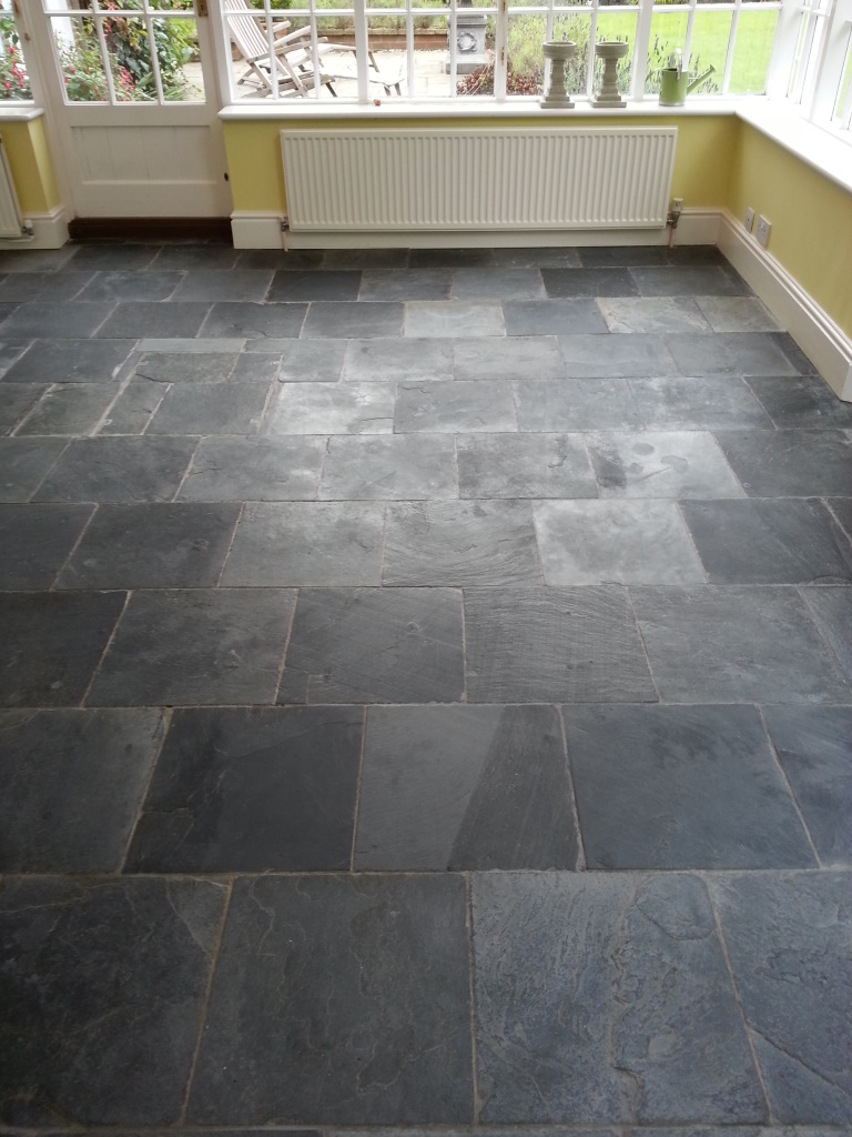 stone kitchen flooring waste disposal cleaning and polishing tips for slate floors information tiled floor bedford after before sealing