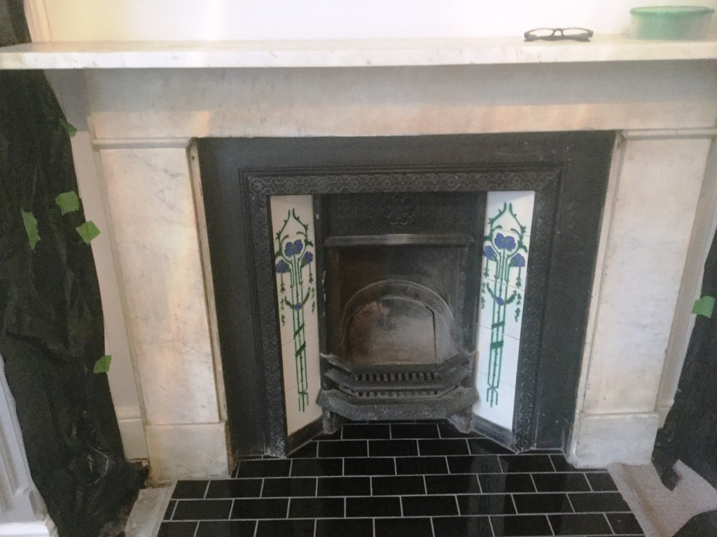 Concrete Fireplace Hearth Cleaning