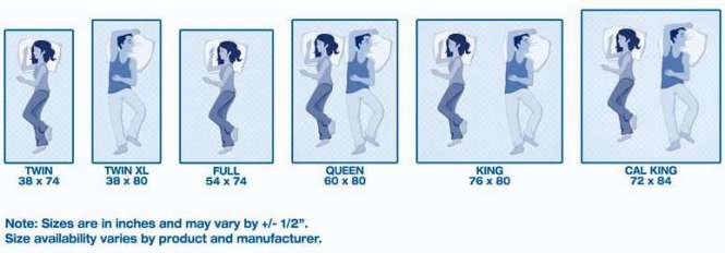 Here Is An Info Graphic Image Describing Diffe Sizes Of Bed Mattress