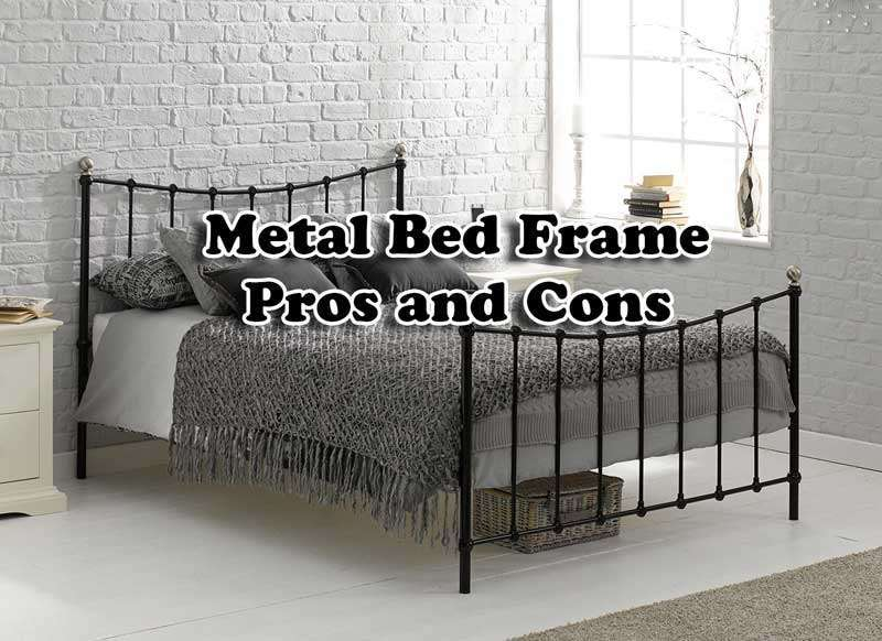 Metal Bed Frame Pros And Cons, Cast Iron Bed Frame Queen Size