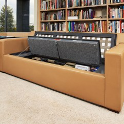 Sofa Gun Safe White With Blue Piping Couch Bunker And Hidden Furniture Bedbunker Safes Couchbunker Mesa