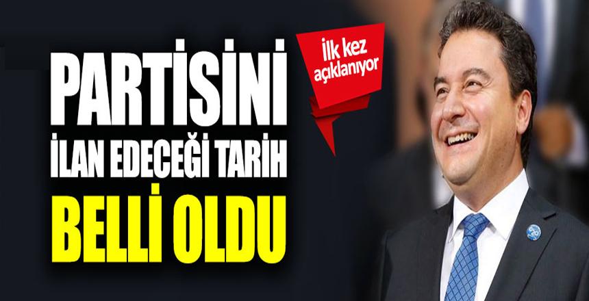 Ali Babacan'ın partisini ilan edeceği tarih belli oldu