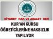 KUR'AN KURSU ÖĞRETİCİLERİNE HAKSIZLIK YAPILIYOR!