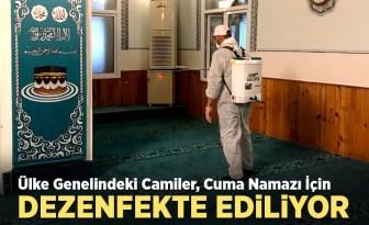 Ülke genelinde camiler cuma namazı öncesi dezenfekte ediliyor