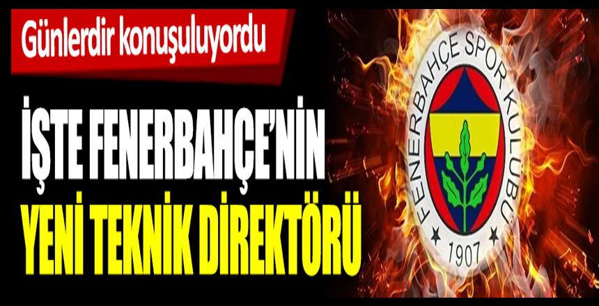 Günlerdir konuşuluyordu! İşte Fenerbahçe'nin yeni teknik direktörü