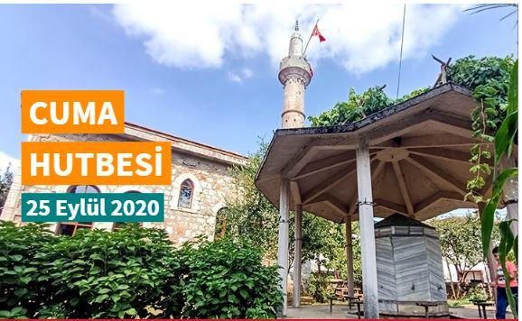 "25 Eylül 2020 tarihli Diyanet Cuma hutbesi ""Cami ve İlim"""