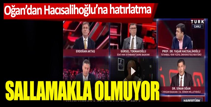 Canlı yayında gerilim! Sinan Oğan'dan Yaşar Hacısalihoğlu'na hatırlatma! Sallamakla olmuyor