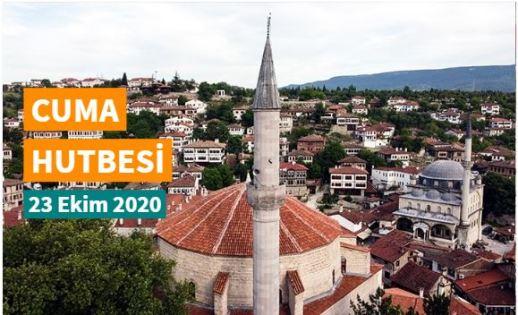 "23 Ekim 2020 tarihli Diyanet Cuma hutbesi ""Mevlid-i Nebi"""