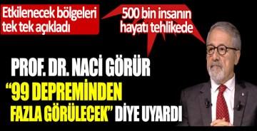 """Prof. Dr. Naci Görür'den korkutan uyarı. """"99 depreminden fazla görülecek"""" diye uyardı. Büyük İstanbul depreminde etkilenecek bölgeleri tek tek açıkladı. 500 bin insanın hayatı tehlikede"""