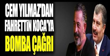 Cem Yılmaz'dan Sağlık Bakanı Fahrettin Koca'ya anlamlı çağrı