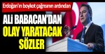 Erdoğan'ın boykot çağrısının ardından Ali Babacan'dan olay yaratacak sözler