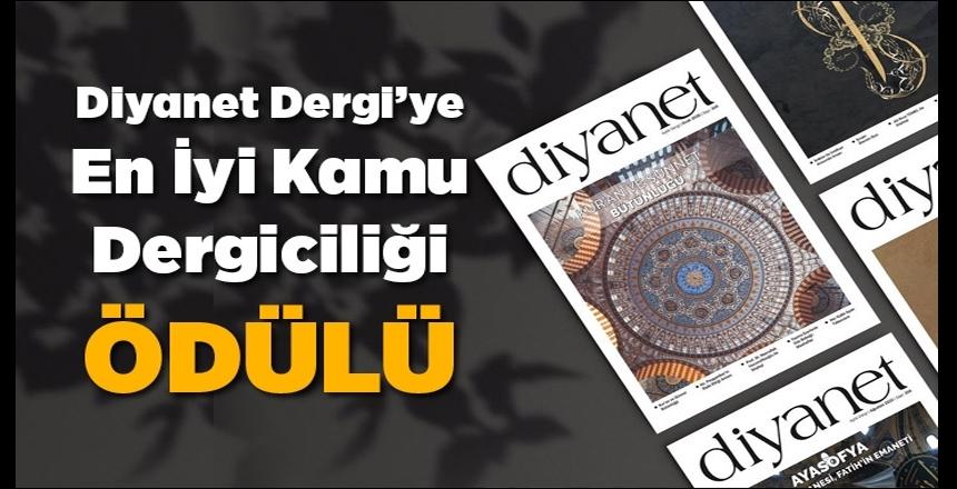 """Diyanet Dergi'ye """"En İyi Kamu Dergiciliği"""" ödülü"""