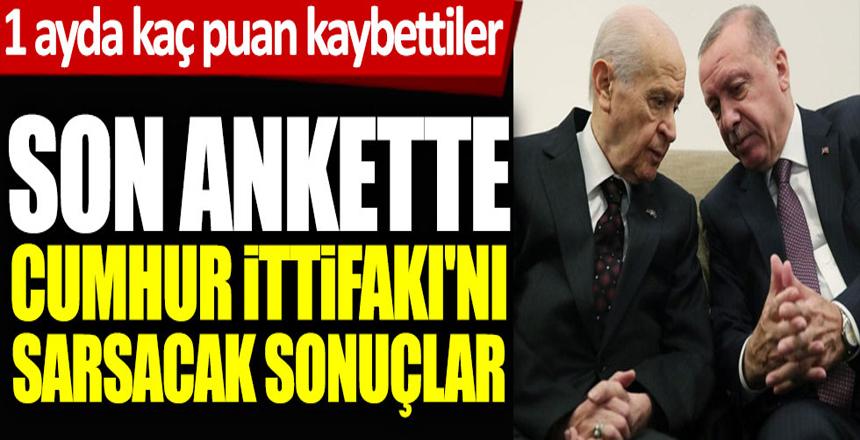 Son ankette Cumhur İttifakı'nı sarsacak sonuçlar! AKP 1 ayda bakın ne kadar puan kaybetti