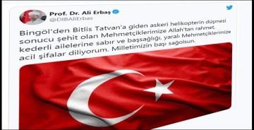 Prof. Dr. Erbaş: Milletimizin başı sağolsun