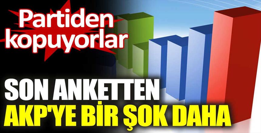 Son seçim anketinden AKP'ye bir şok daha. Seçmen partiden kopuyor
