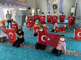 Şarköy'de Kur'an Kursu öğrencileri, 15 Temmuz Şehitleri için dua etti