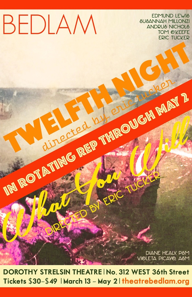 POSTER for Bedlam Twelfth Night and What You Will