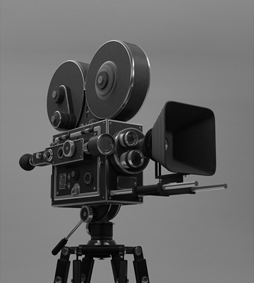 An old timey movie camera
