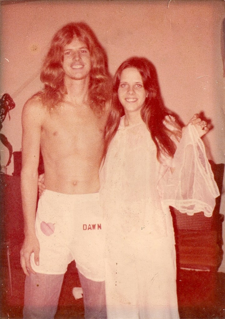 mom and dad bridal shower 1976