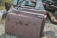 old car door