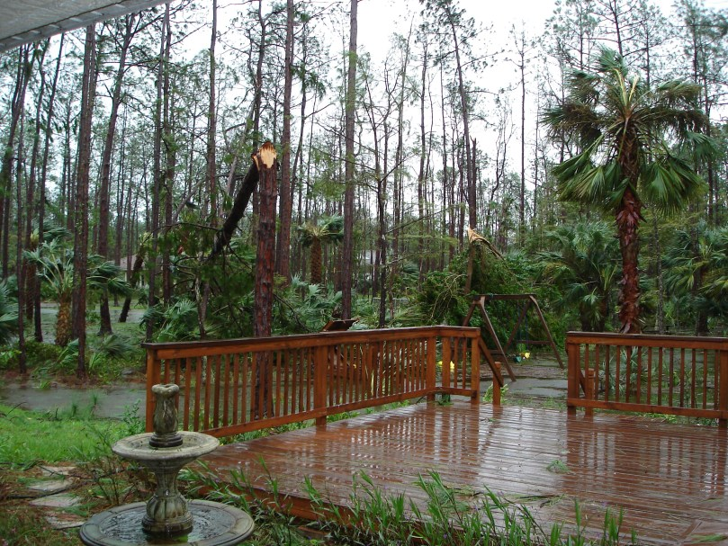 Damage from Hurricane Wilma in Naples, Florida