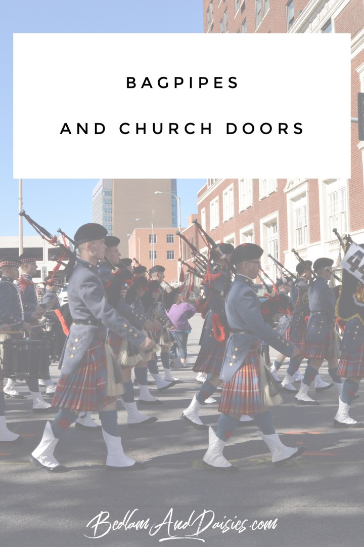 Bagpipes and Church Doors