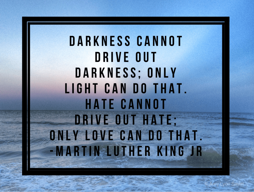 Darkness cannot drive out darkness; only light can do that. Hate cannot drive out hate; only love can do that. - Martin Luther King Jr.