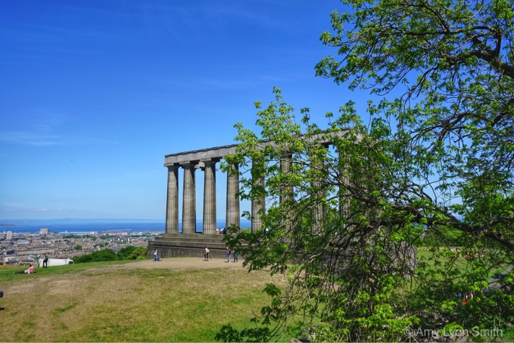 National Monument on Calton Hill in Edinburgh, Scotland
