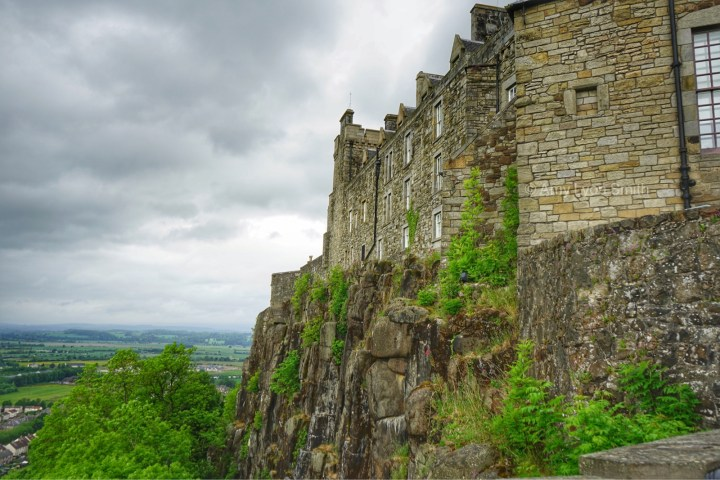 Cliffside of Stirling Castle - Stirling Scotland