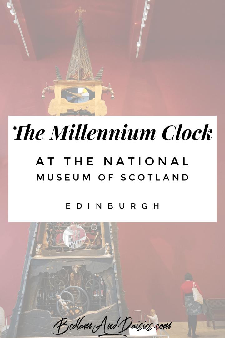 The Millennium Clock at the National Museum of Scotland in Edinburgh